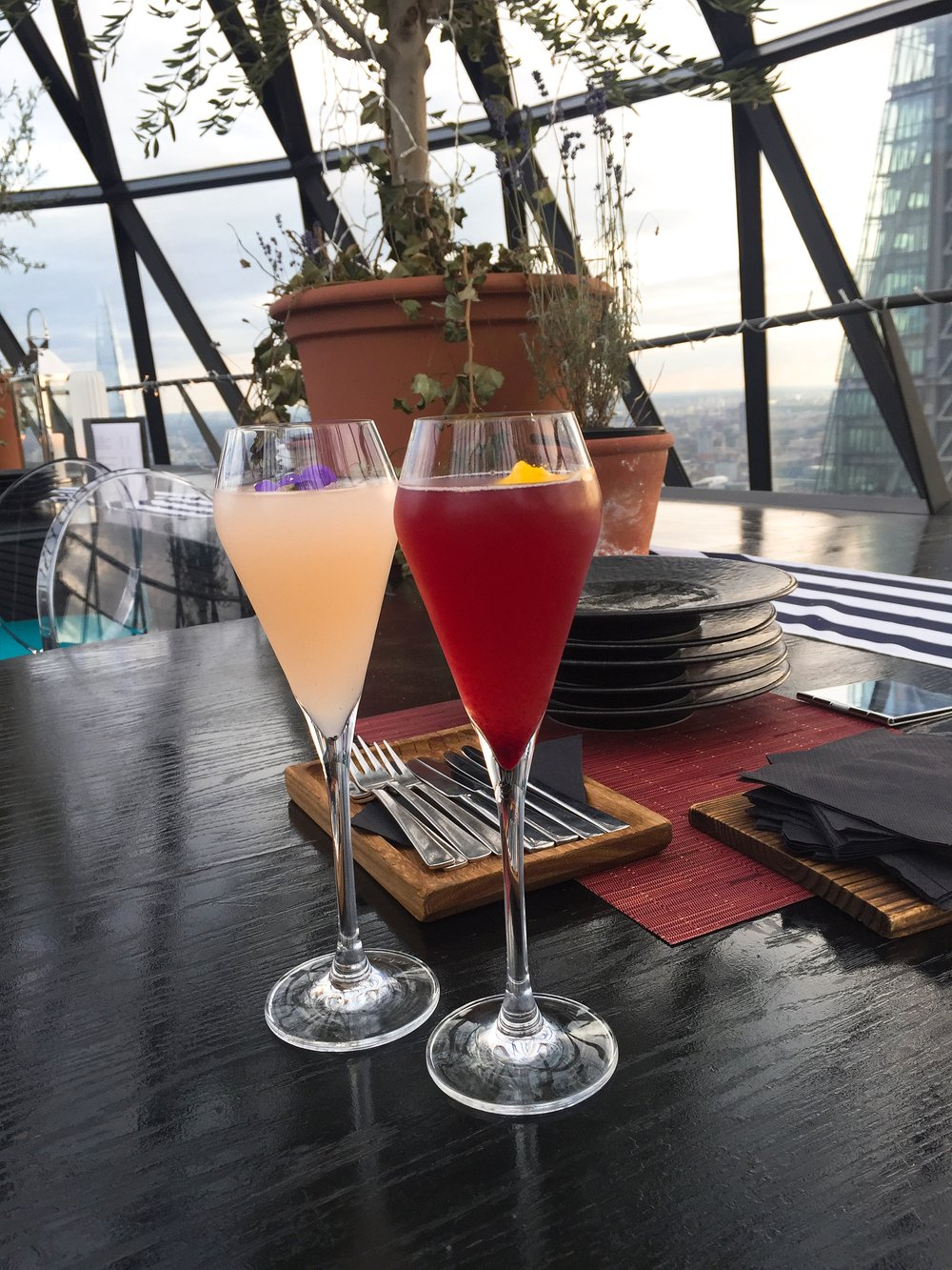 Cocktails - Summer Sky Riviera, Searcys at The Gherkin