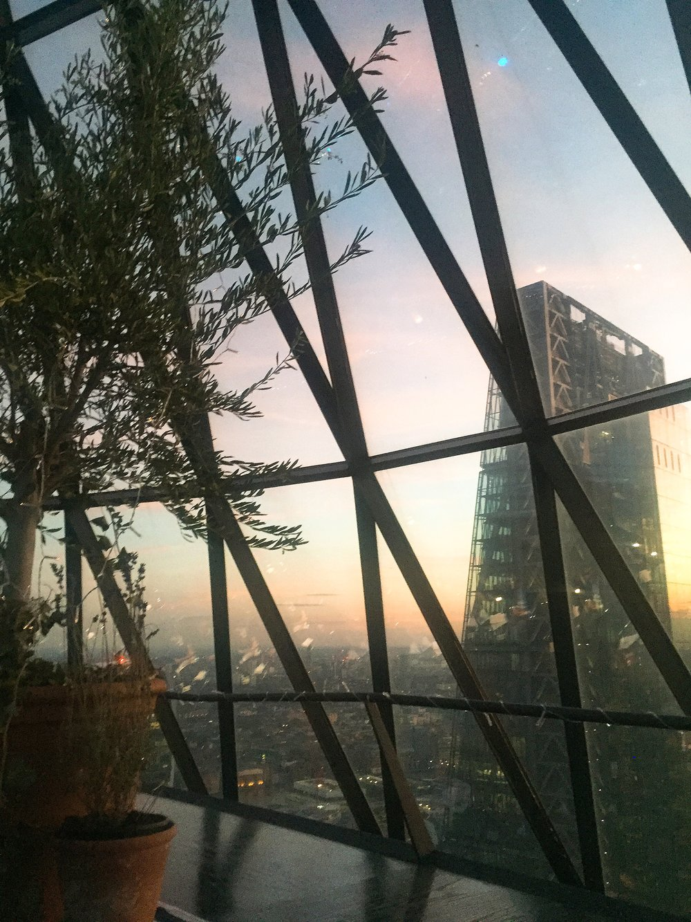 Views across London - Summer Sky Riviera, Searcys at The Gherkin