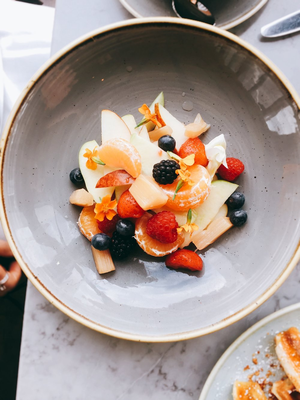 Fruit salad - Duck and Waffle restaurant review