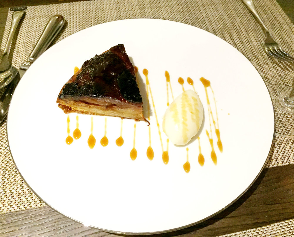 Apple tart dessert at Galvin At The Athenaeum - Review