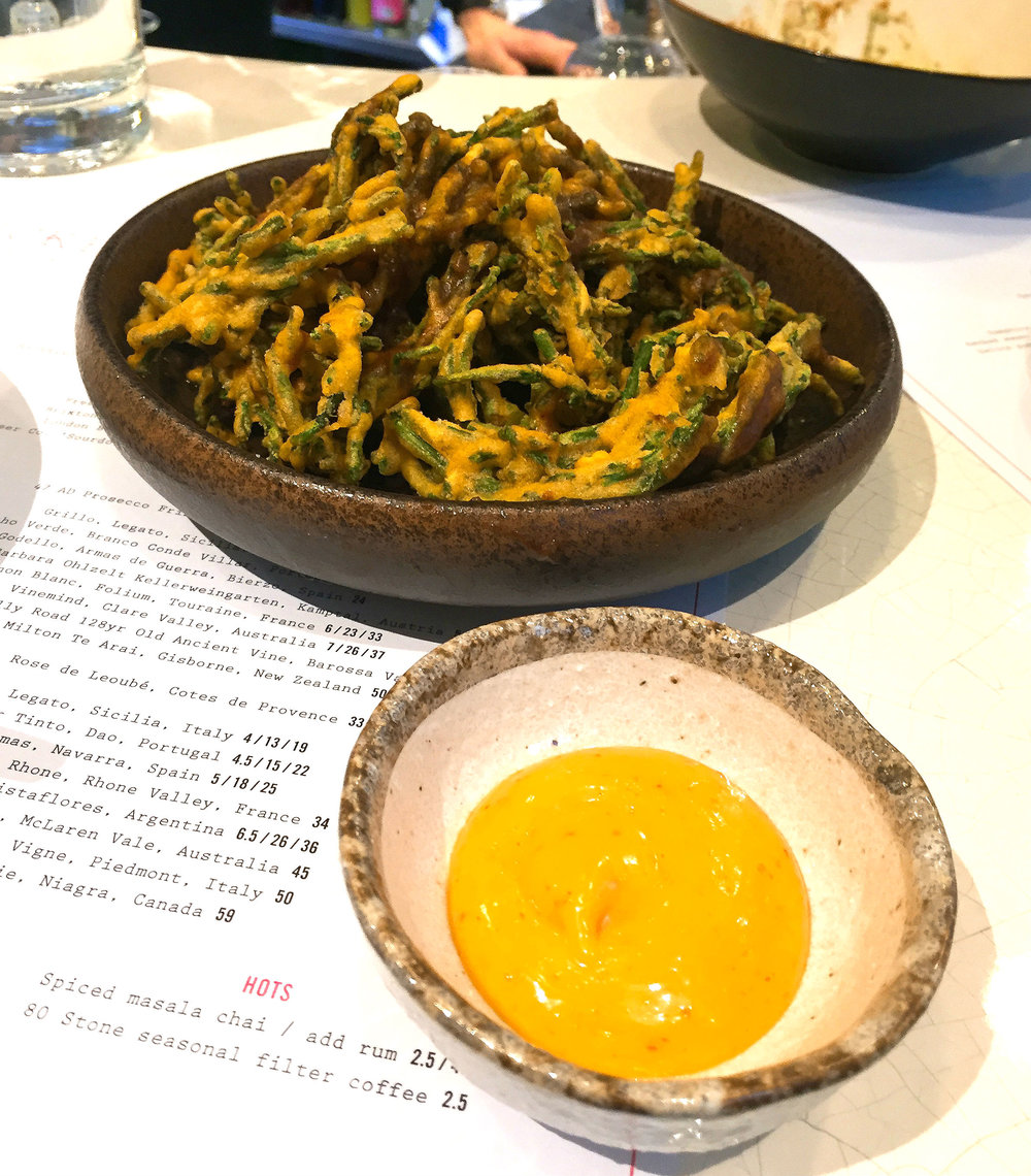 Samphire fries at Kricket Soho restaurant review