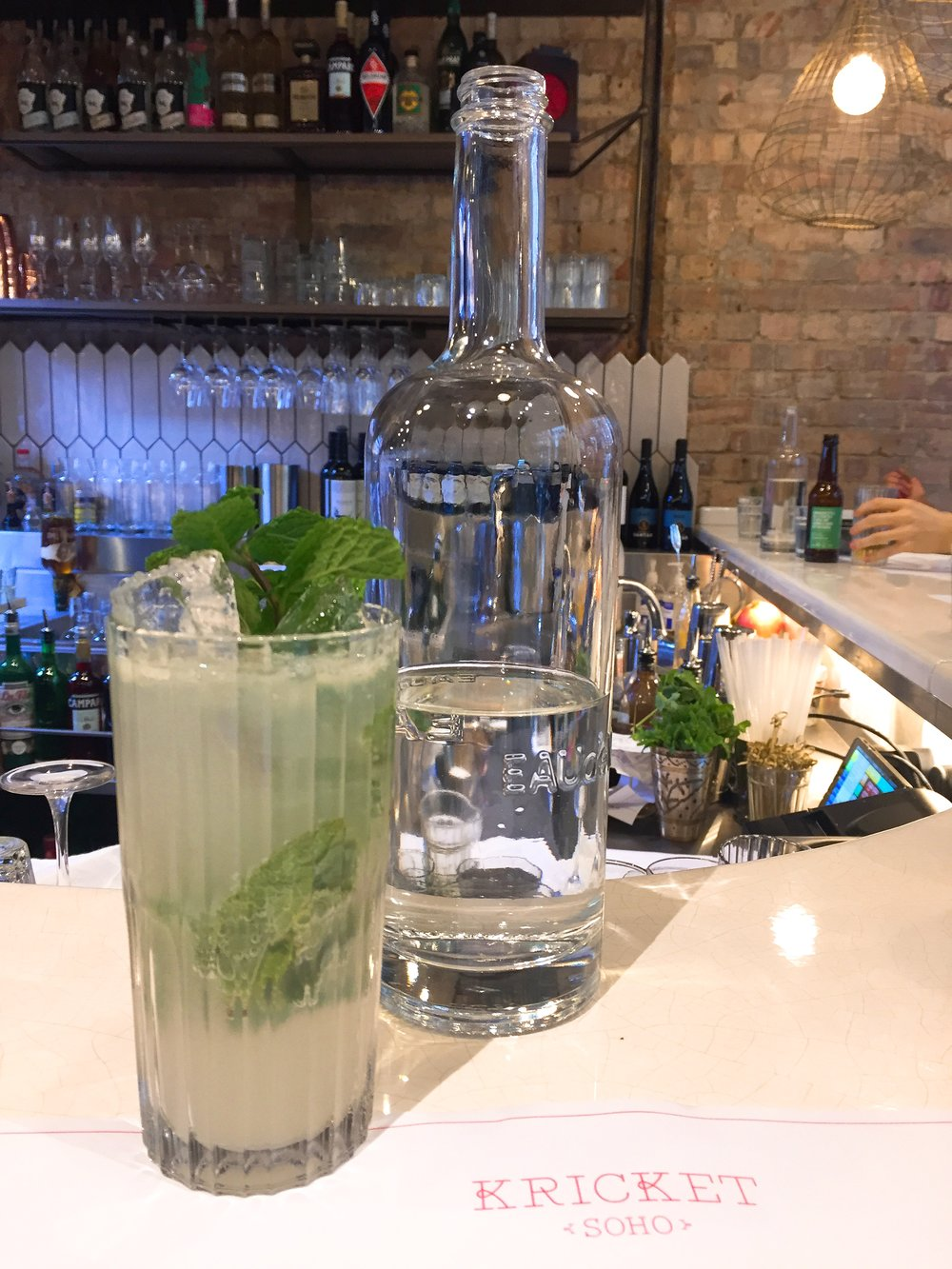 Kricket Soho restaurant review - Fresh mint