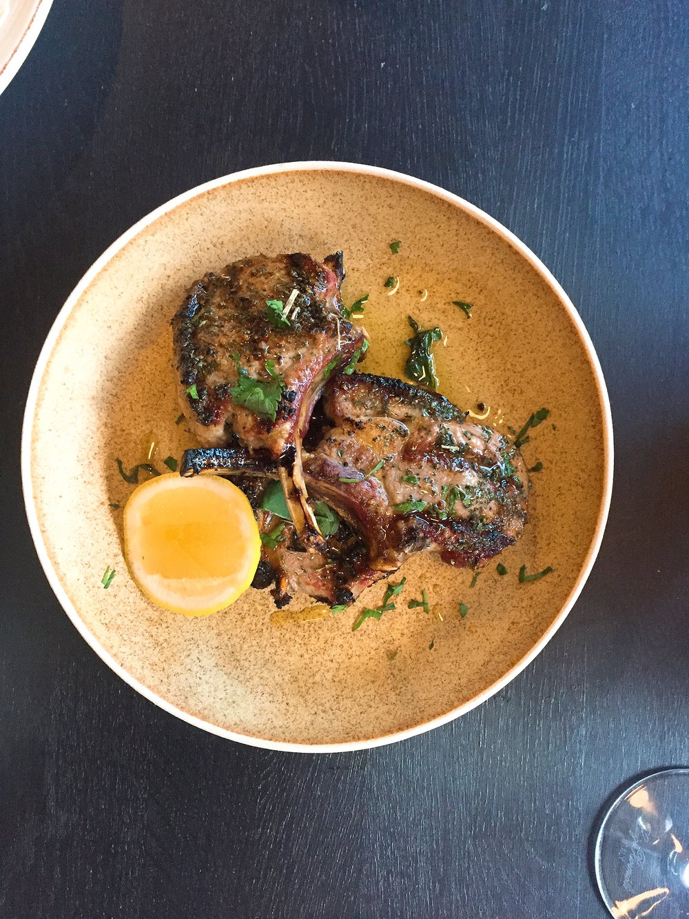 Lamb chops - Yosma restaurant review London