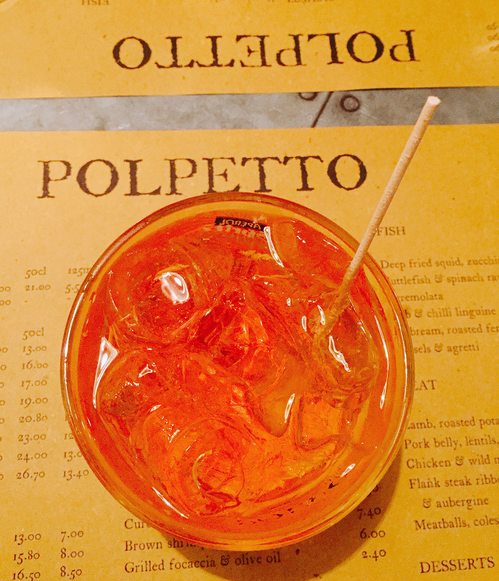 Aperol Spritz at Polpetto