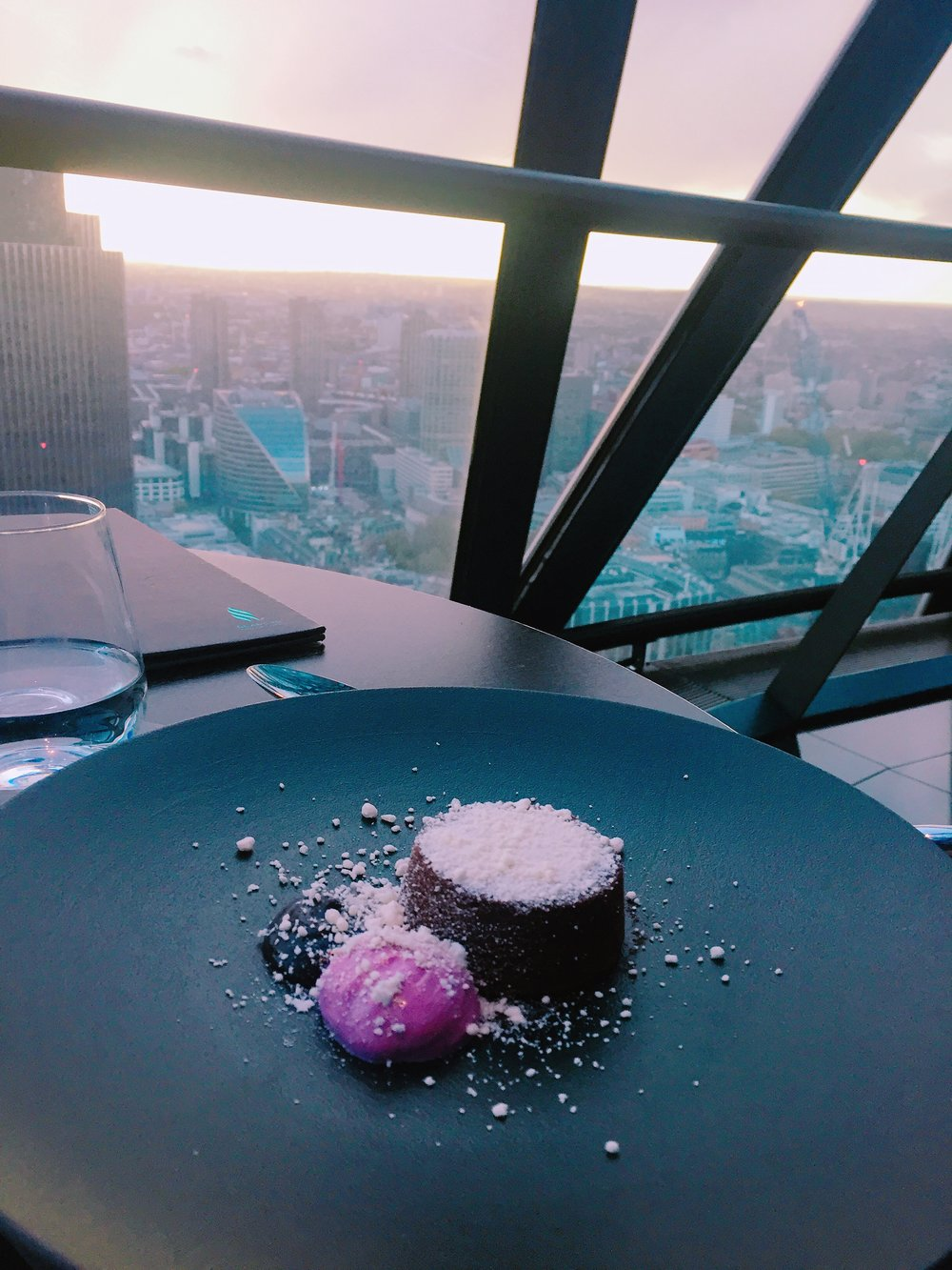 Searcys at the Gherkin dessert