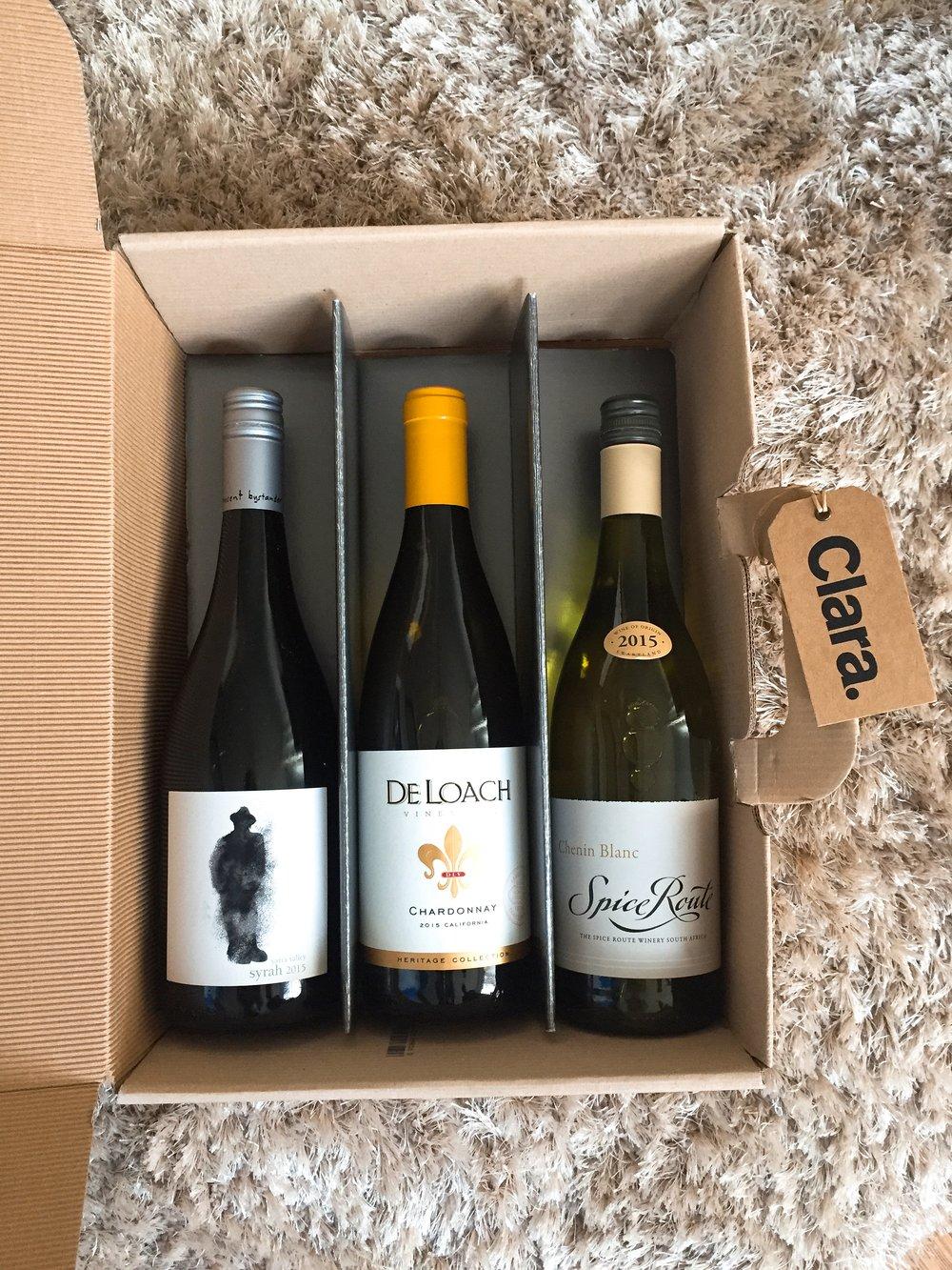 Clara wine delivery