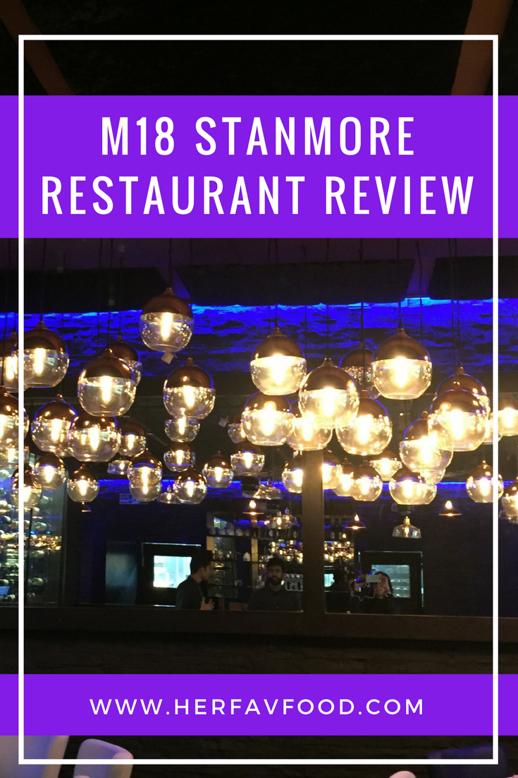 M18 Stanmore restaurant review