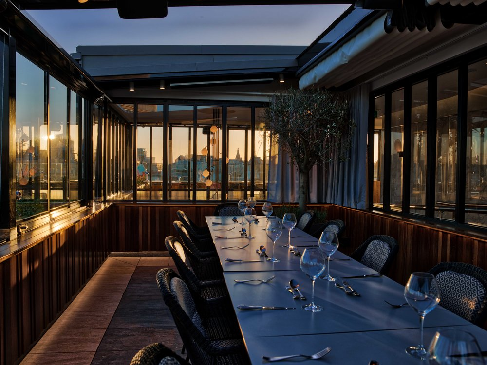 The rooftop bar at Trafalgar Dining Rooms