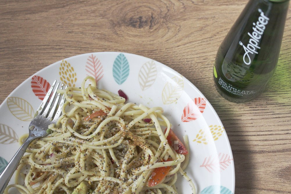 Healthy and easy linguine recipe for Spring