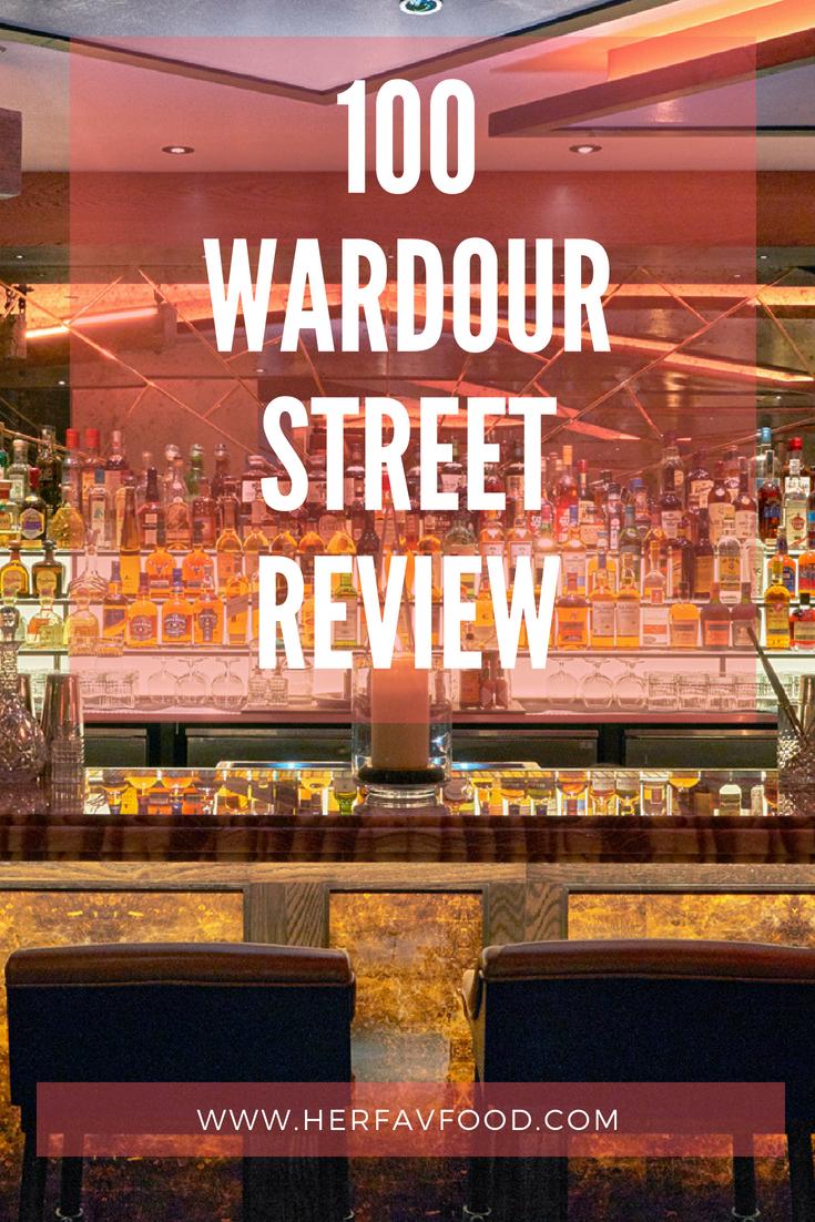 100 Wardour Street Restaurant Review