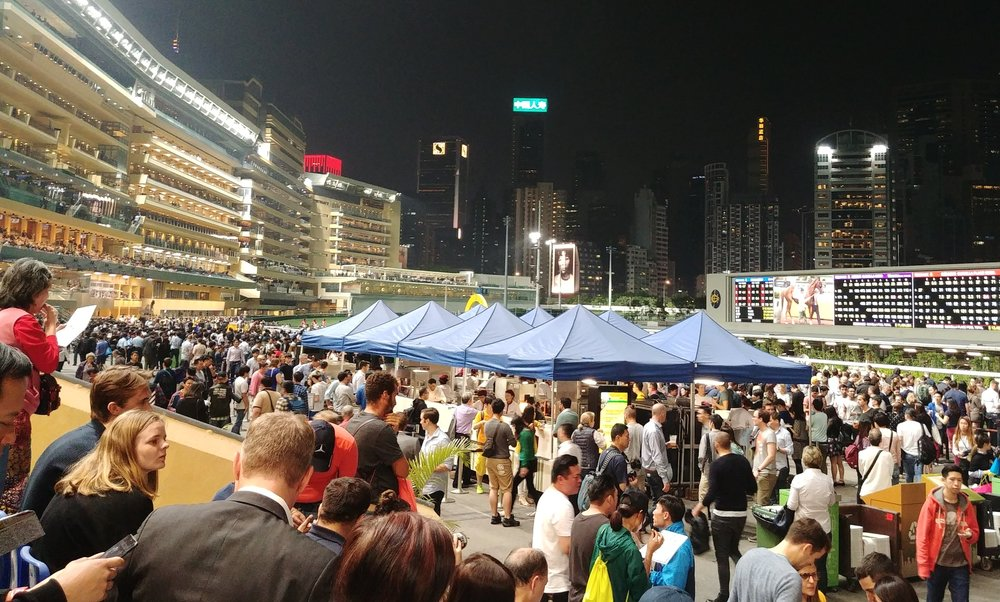 Hong Kong budget travel post - horse racing