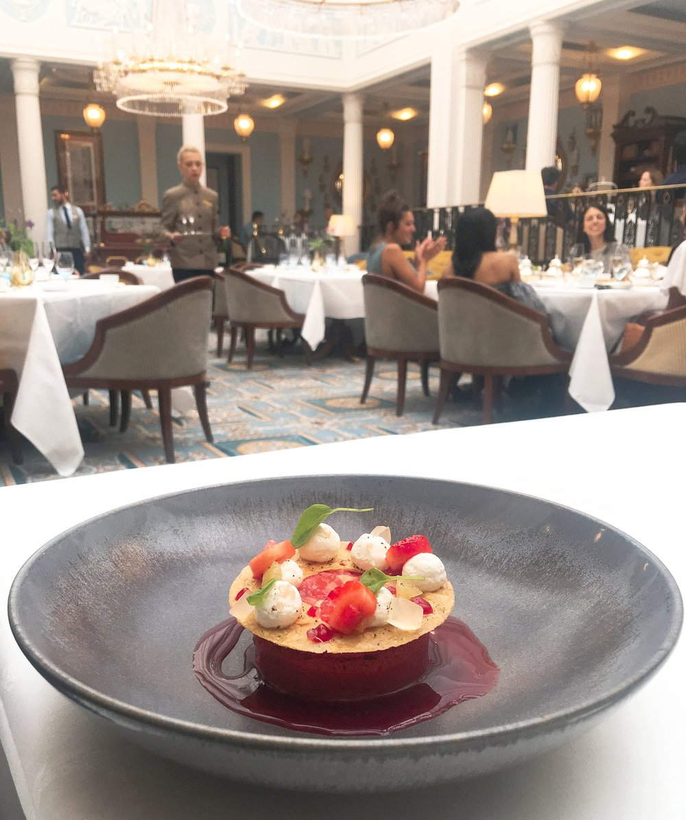 Strawberry dessert Celeste at the lanesborough hotel london