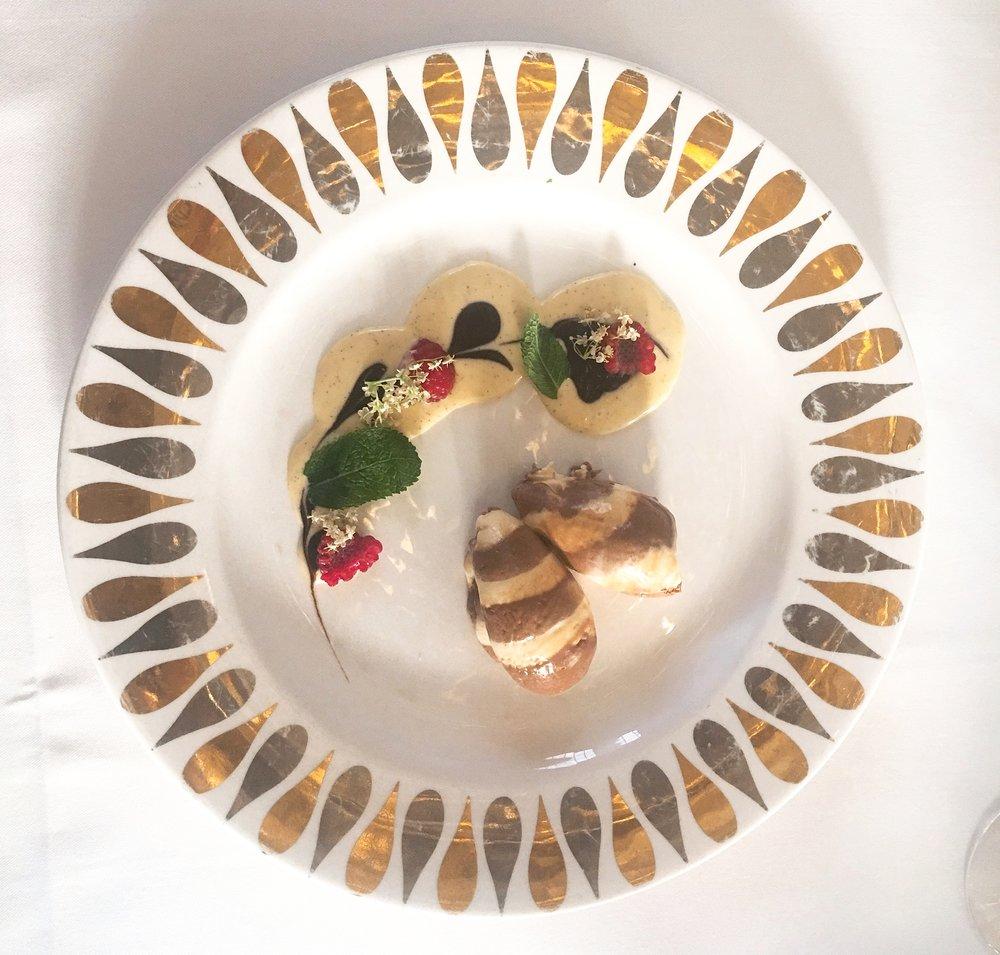 Dessert at Mosimman's restaurant London
