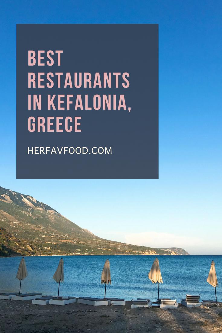Five best restaurants in Kefalonia Greece