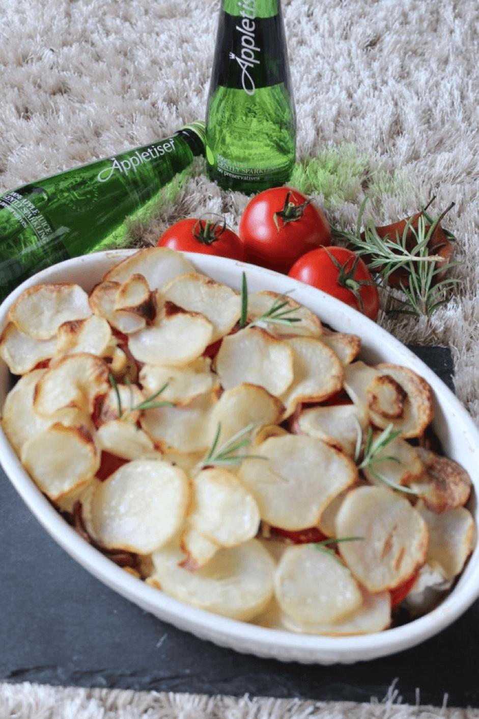 Aubergine potato gratin recipe