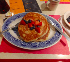 American blueberry pancakes Washington DC Hotel Breakfast