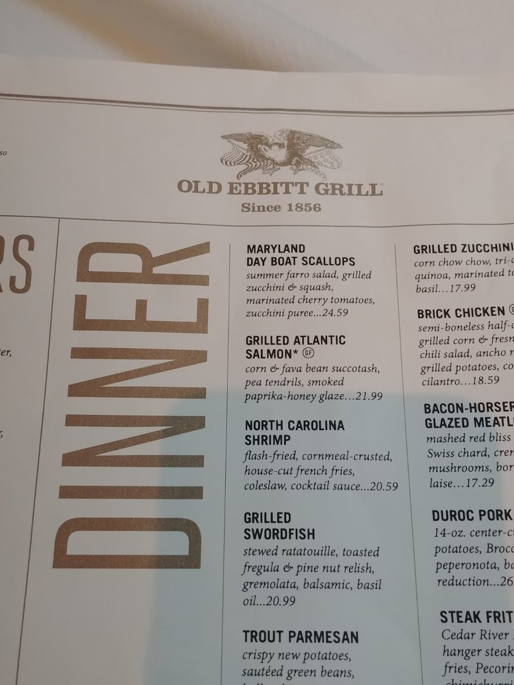 Old Ebbitt Grill America Washington DC Restaurant