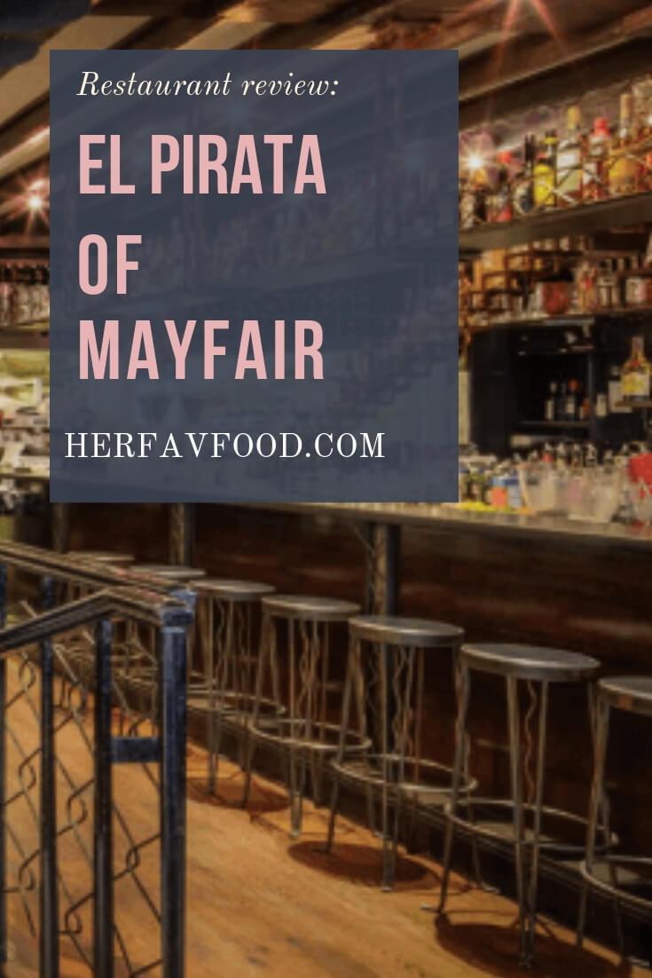 El Pirata of Mayfair restaurant decor