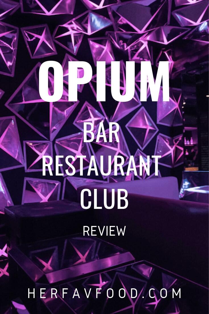 Opium London set menu review