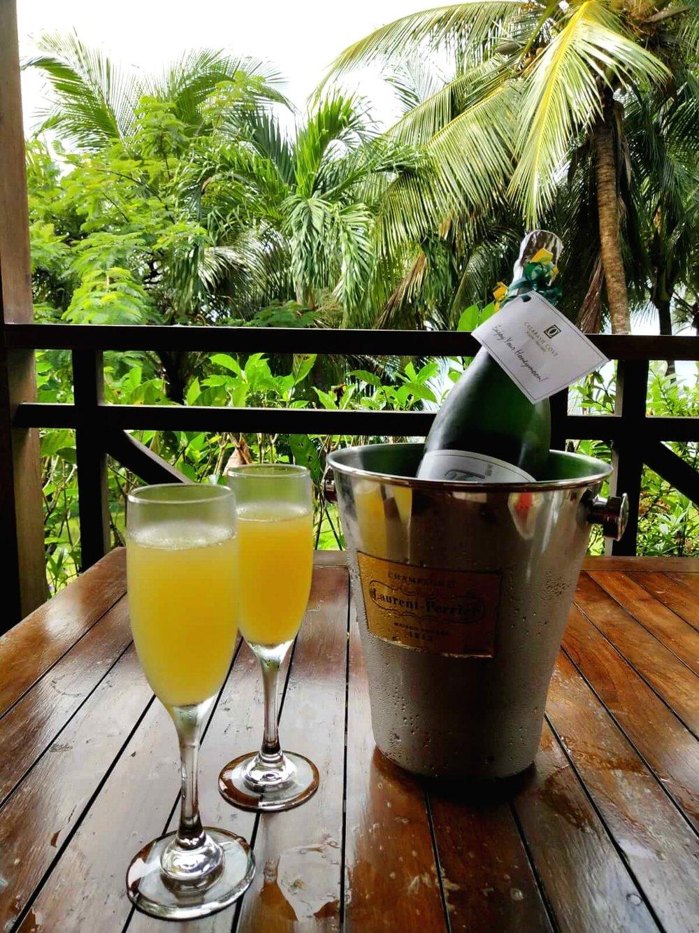 Calabash+Cove+St+Lucia+champagne