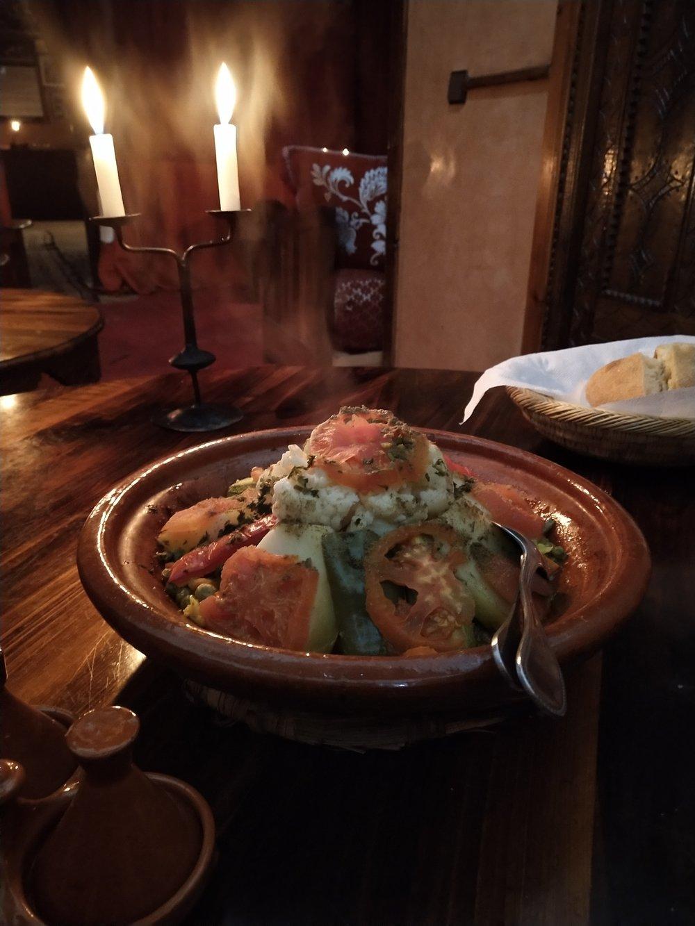 Dinner at Kasbah du toubkal