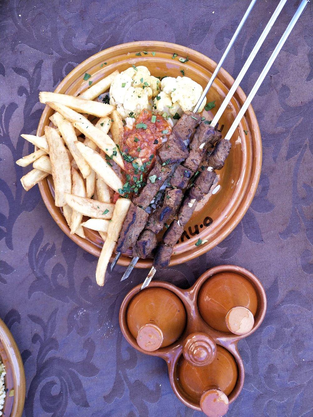 Lunch at Kasbah du toubkal