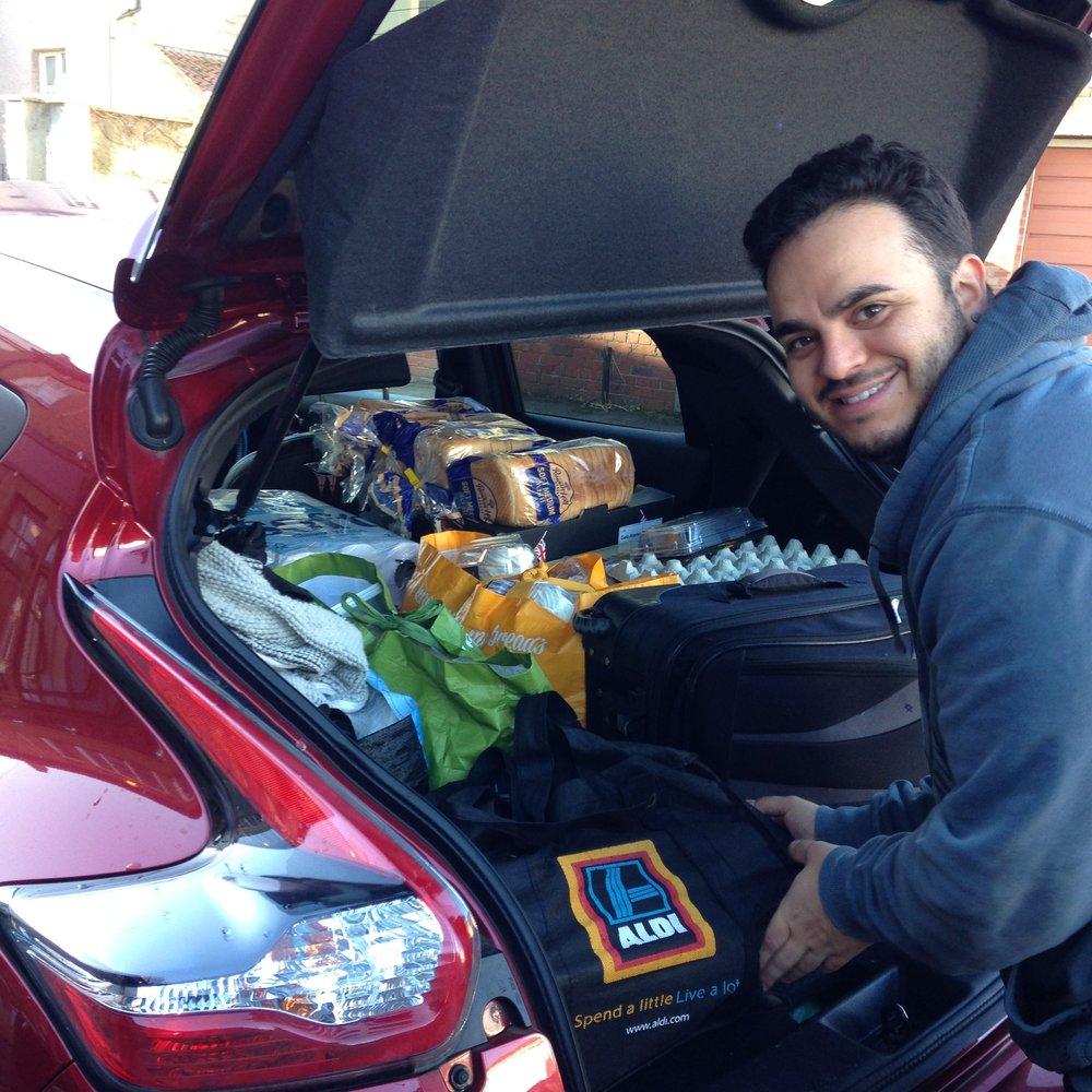 Denis Veloso using his Tetris skills to get the car filled!