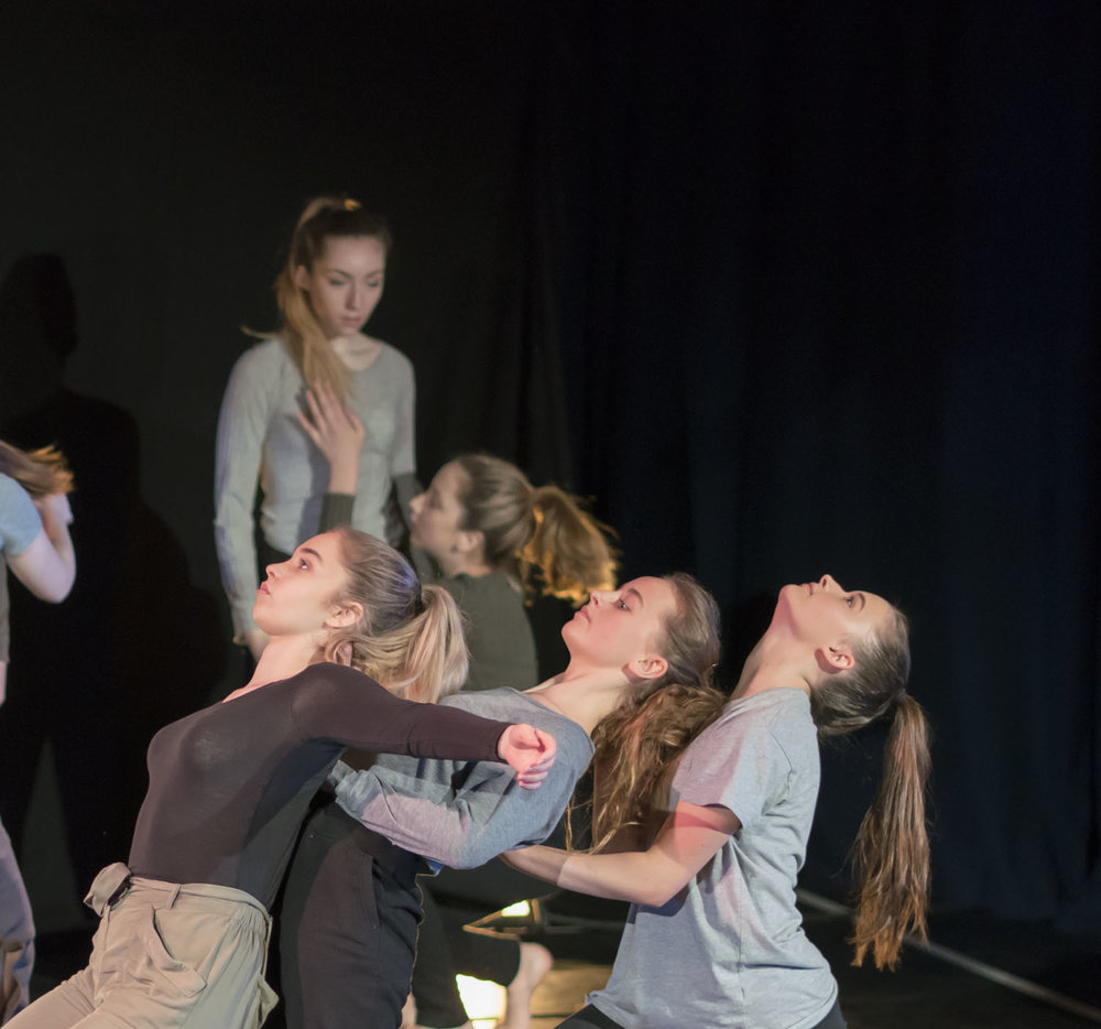RISE performing a piece choreographed by Silas Grocott-Cain