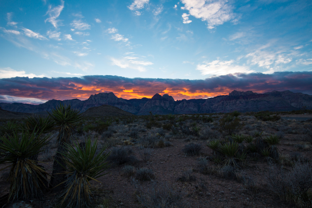 Red Rock Canyon, Nevada at Sunset