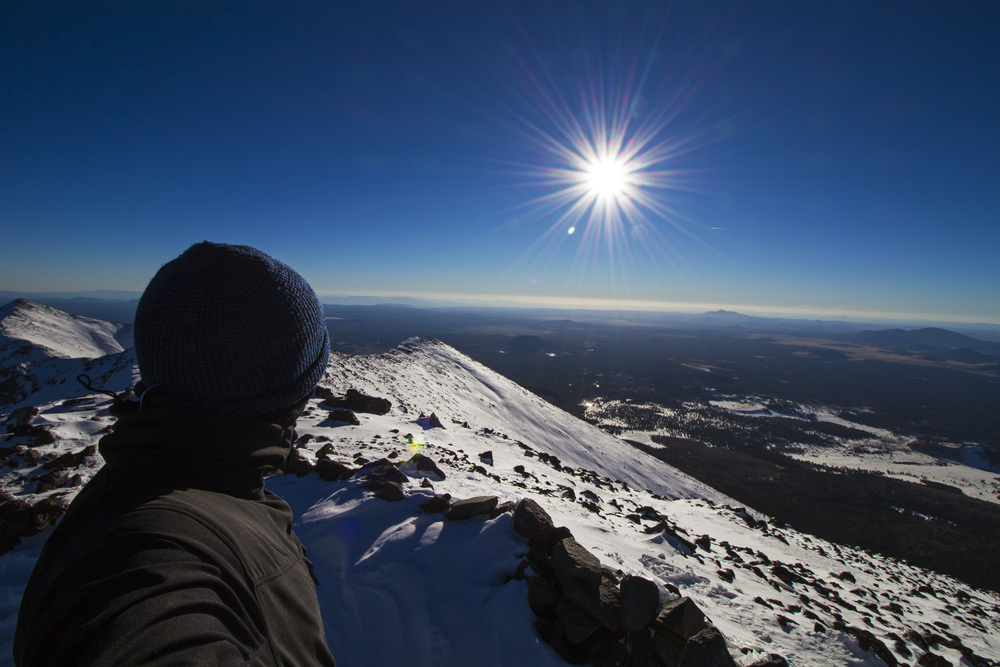 Summit of Humphrey's Peak in Flagstaff, Arizona