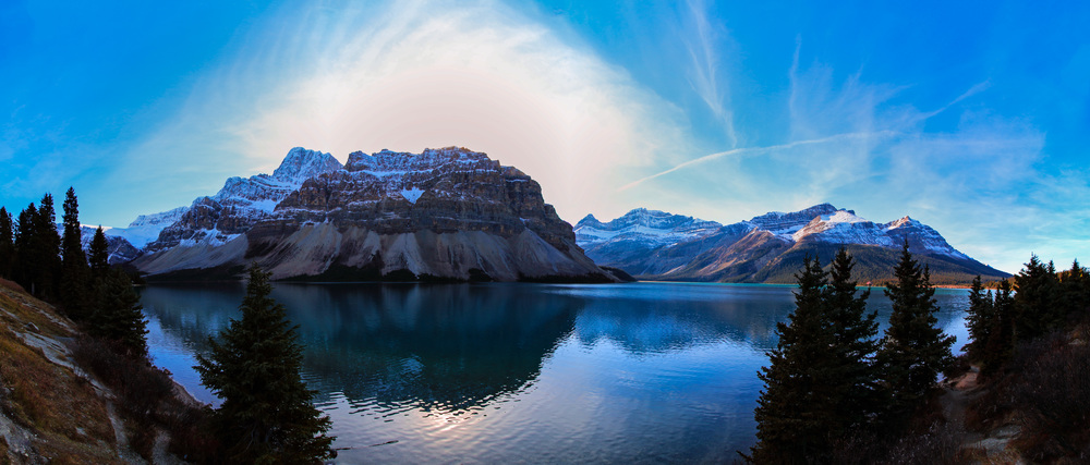 Bow Lake in Alberta, Canada