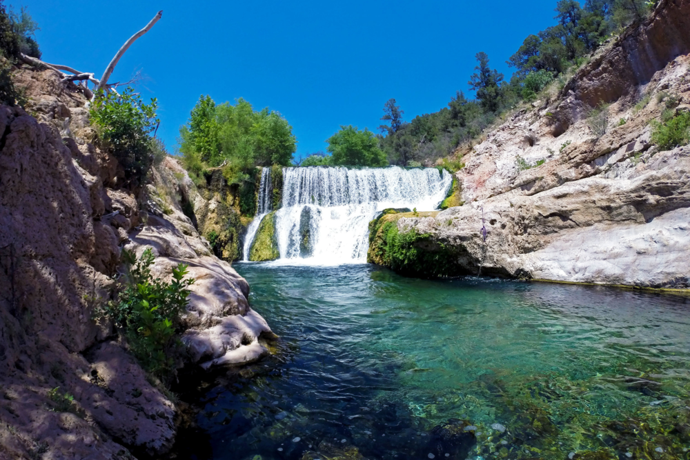 Fossil Creek Springs Waterfall, Arizona