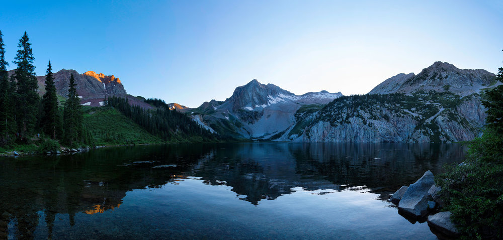 Sunrise at Snowmass Lake, Colorado