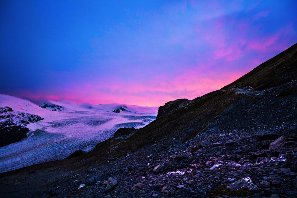 Harding Icefield Glacier in Seward, Alaska