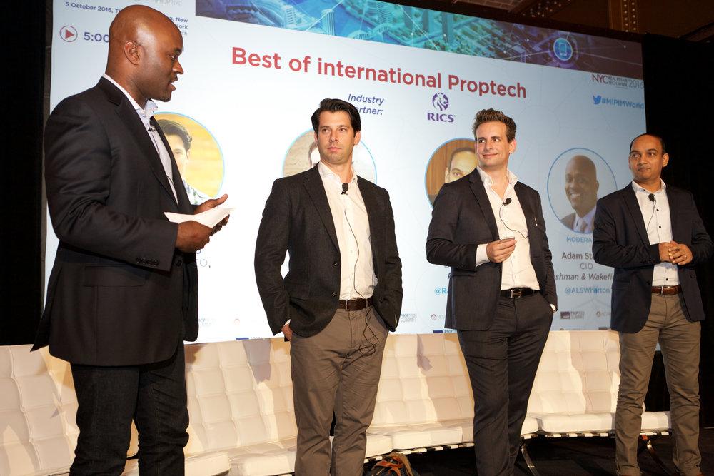 Adam Stanley, CIO, Cushman & Wakefield | Nick Romito, Founder & CEO VTS | Gunther Schmidt, Founder & Managing Partner, Medici Living | Raja Seetharaman, Co-Founder, PropStack