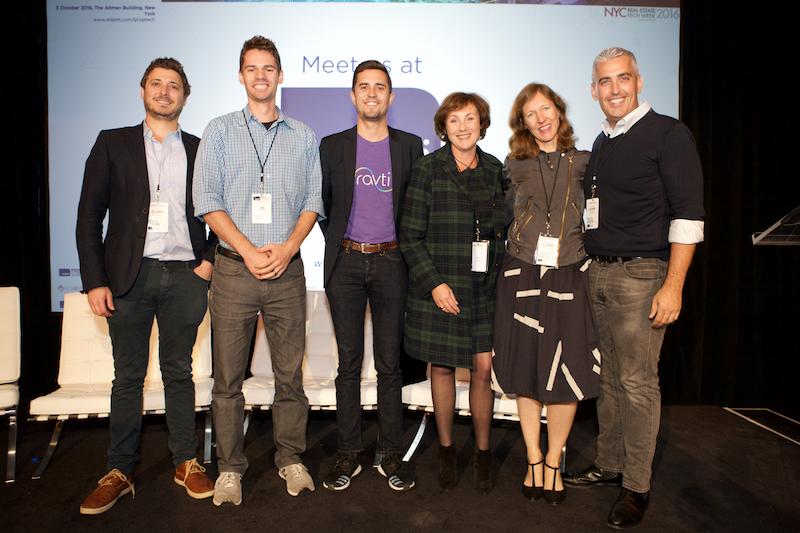 (From left) Richard Santhouse & Tim Milazzo | Stack Source, Alex Rangel | Ravti,Sara Rozenfarb | Reed MIDEM, Cindy McLaughlin | Envelope, Aaron Block | MetaProp NYC