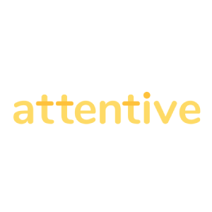 <h4>Attentive </h4><h5>Personalized mobile messaging <br>for ecommerce marketing</h5>