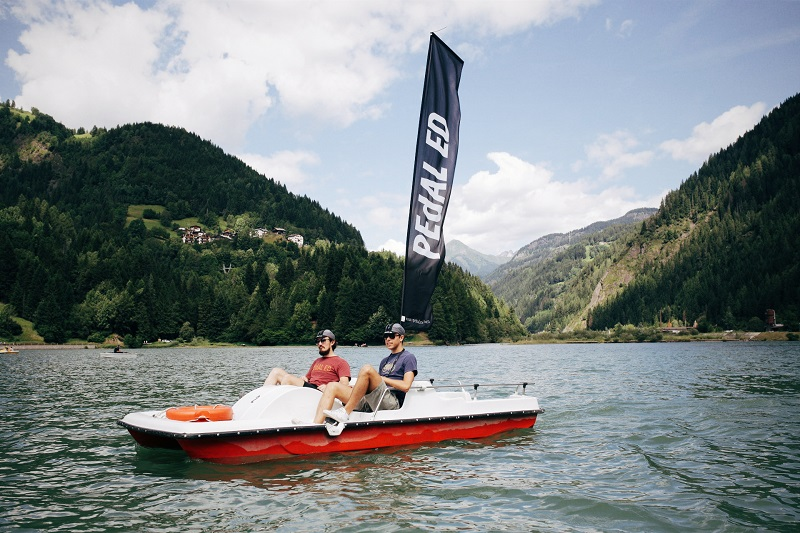PLEASURE: Mike Hall and AH Studio Film Makers enjoying a trip on the lake