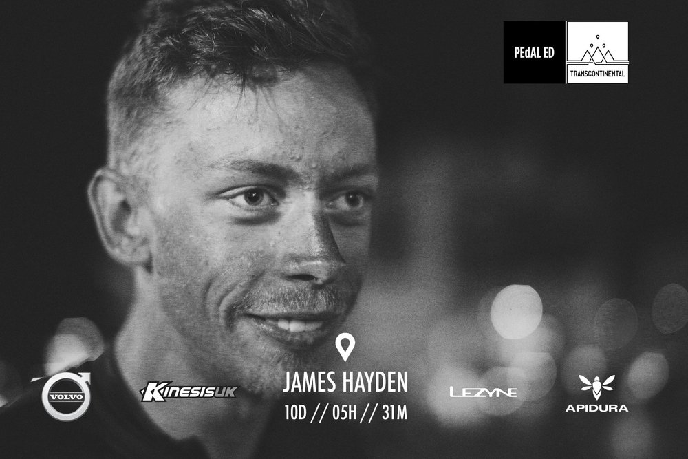 James Hayden (075) - Finishes in 10 Days, 5 hours, 31 Minutes