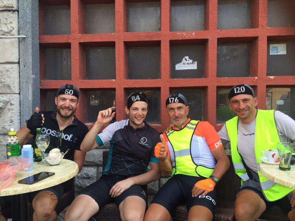 Beppe Scotti (120) with Oliver Wolf (50, Joshua Rea (65) and Massimo Fusi (176)