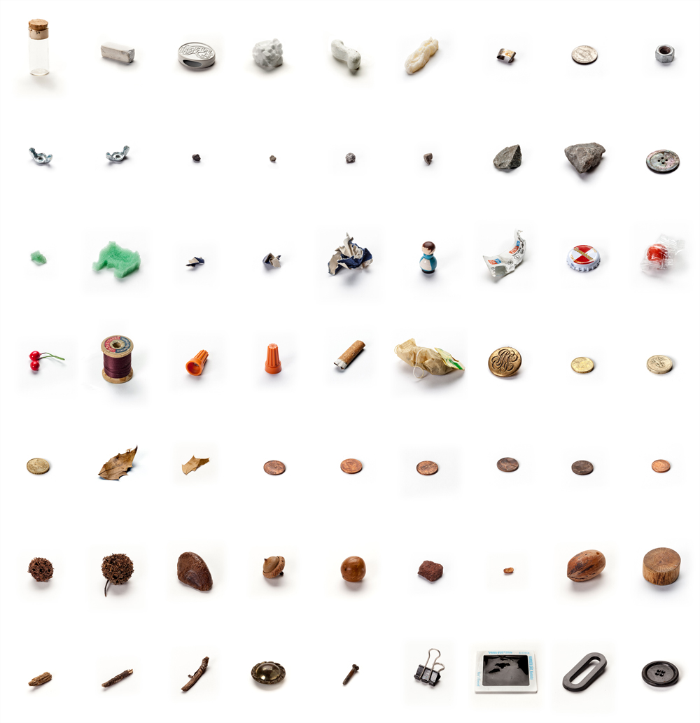 63 Objects Taken From My Son's Mouth,  2012 / sculpture / in permanent collection of Crystal Bridges Museum, AK