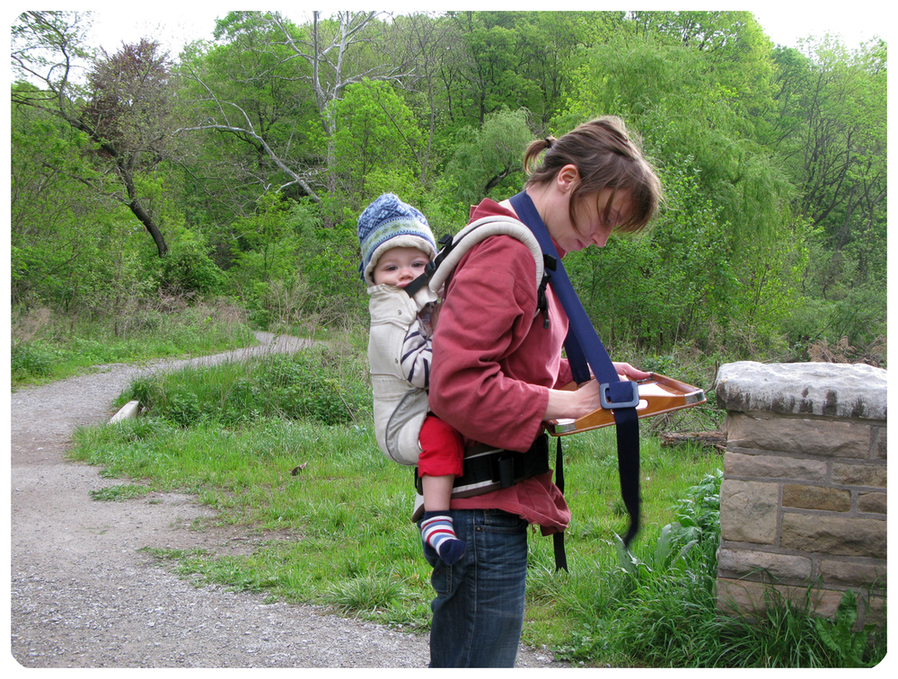 An early experiment in parenting & working, Walking Studio, 2011, Lenka Clayton