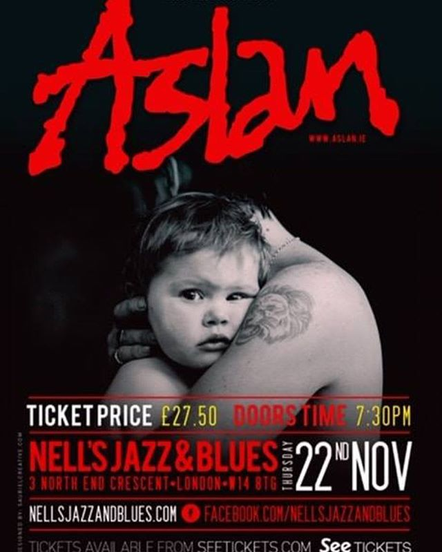 Can't wait to support Aslan next Thursday. They are arguably one of the biggest bands in Ireland of all time! Not one to miss 🤘