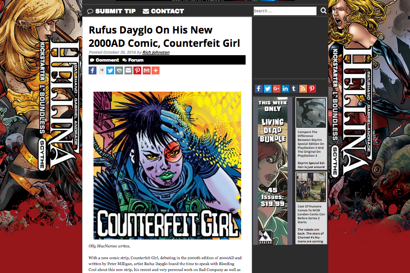 Bleeding Cool Counterfeit Girl
