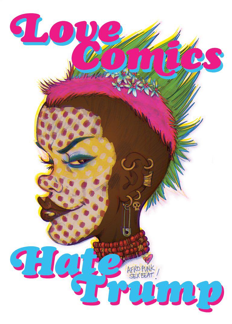 rufus dayglo love comics hate trump tank girl 2000ad
