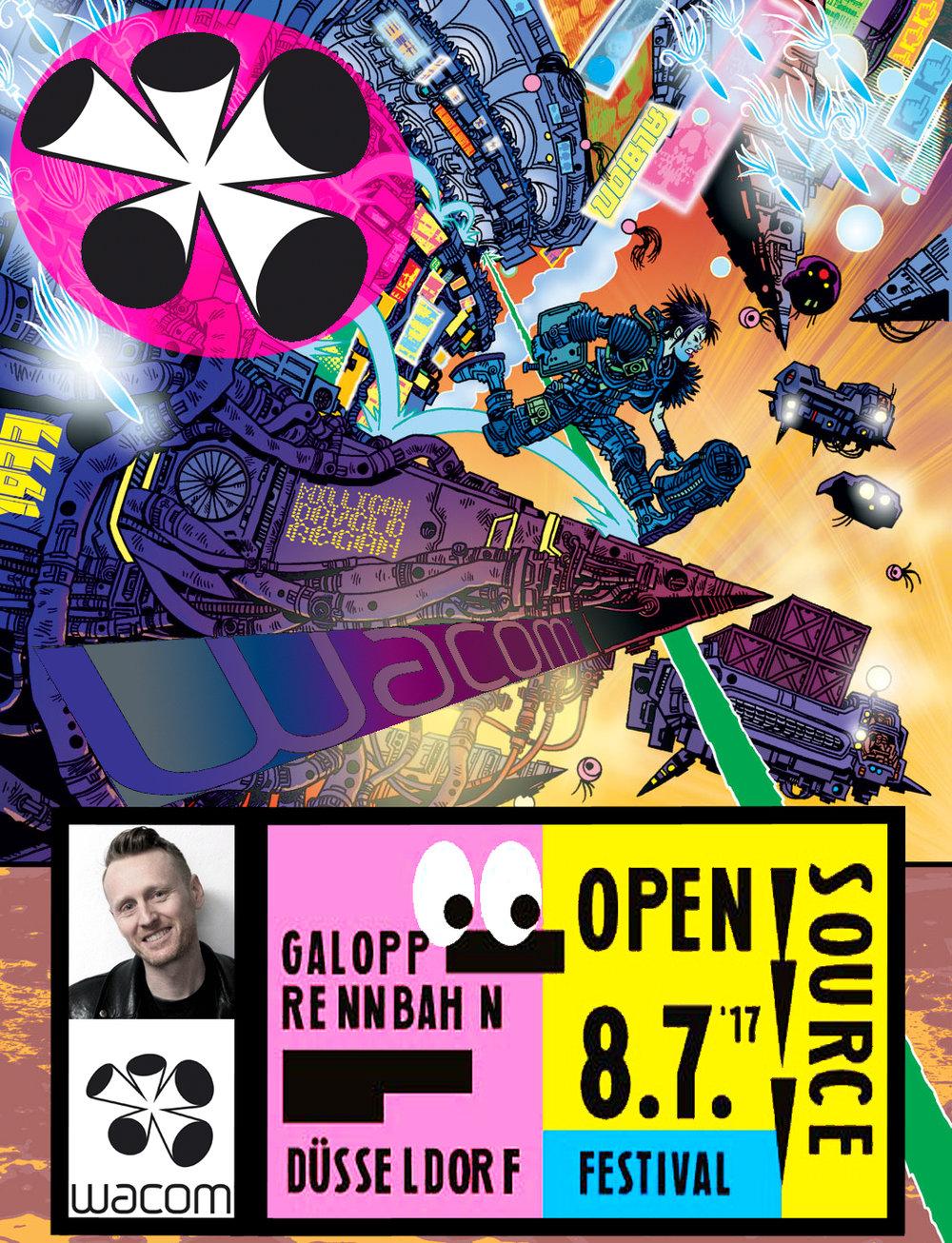 Rufus Dayglo Dusseldorf Open Source Festival
