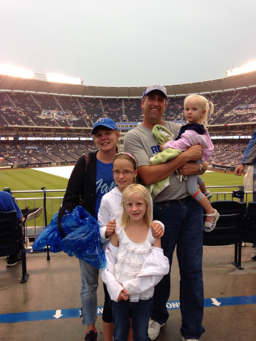 Our first family trip to a major league baseball game.
