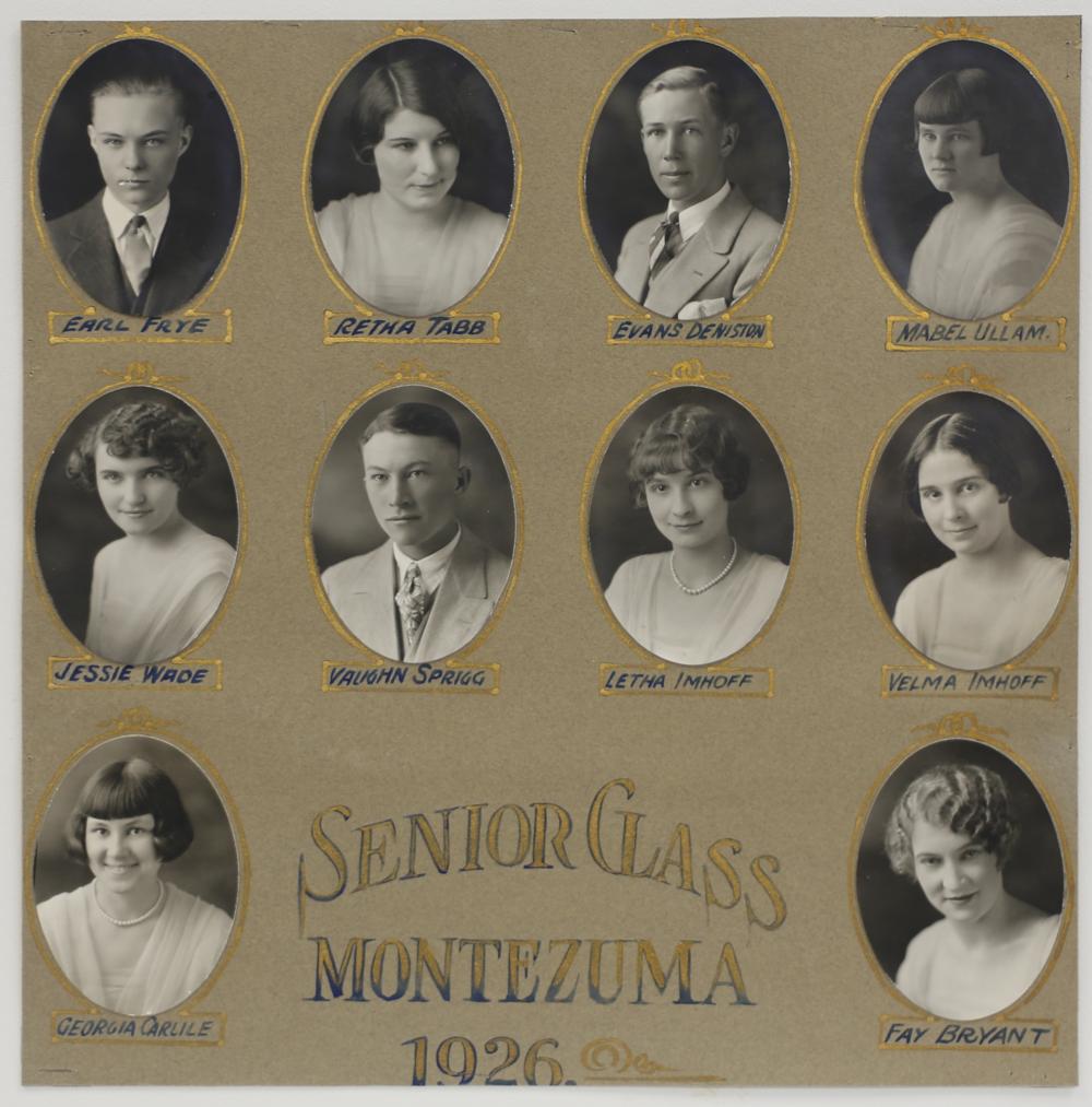 Montezuma Class of 1926