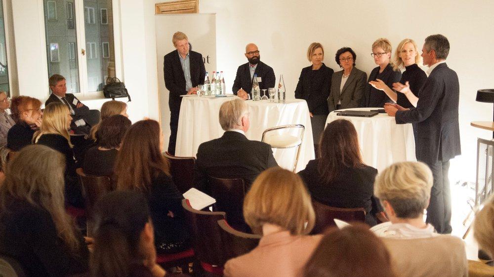Christian Berg, Axel Wallrabenstein, Tanja Wielgoß, Marija Korsch, Petra Hesser, Wiebke Ankersen und Rainer Esser