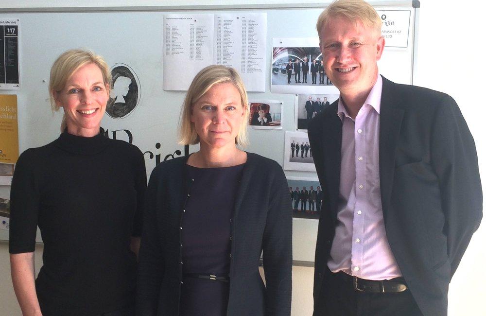 Wiebke Ankersen, Magdalena Andersson, Christian Berg